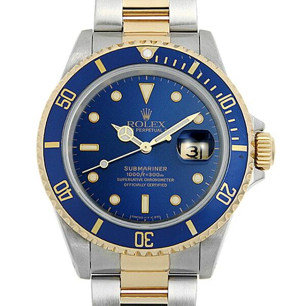 60回払い無金利 ロレックスサブマリーナデイト16613ブルーN番メンズ(006XROAU1771) 中古  腕時計