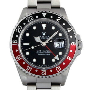 ロレックス GMTマスターII 赤黒ベゼル A番 16710 メンズ(008WROAU0115…