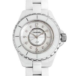 【48回払いまで無金利】シャネル J12 白セラミック 8Pダイヤ H2422 レディース(0064CHAN0188)【新品】【腕時計】【送料無料】【キャッシュレス5%還元】