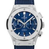 ウブロ クラシック フュージョン ブルー クロノグラフ チタニウム 521.NX.7170.LR メンズ(002GHBAN0022)【新品】【腕時計】【送料無料】