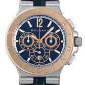 SALE ブルガリ ディアゴノ カリブロ303 クロノグラフ DG42C3SPGLDCH メンズ(003IBVAS0005)【未使用】【腕時計】【送料無料】