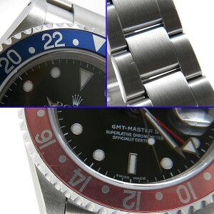 ロレックスGMTマスターII赤青ベゼルP番16710メンズ(06RXROAU0015)【中古】【腕時計】【送料無料】