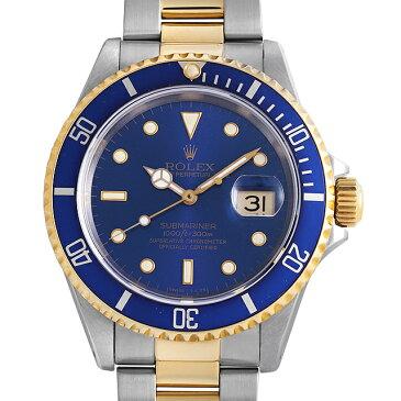 【48回払いまで無金利】SALE ロレックス サブマリーナ デイト 16613 ブルー X番 メンズ(0063ROAU0275)【中古】【腕時計】【送料無料】【キャッシュレス5%還元】