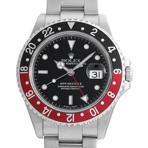 【48回払いまで無金利】ロレックス GMTマスターII 赤黒ベゼル 16710 A番 メンズ(0063ROAU0399)【中古】【腕時計】【送料無料】【キャッシュレス5%還元】