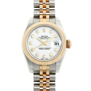 [No interest rate until 48 times payment] Rolex Datejust 10P Diamond 179173G White D No. Ladies (0063ROAU0422) [Used] [Watch] [Free Shipping]