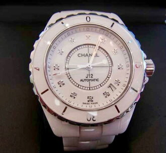 CHANEL Chanel clock diamond ceramic J12AUTO clock 38mm polishing finished beauty article c-004 △△ 10000204◆◆