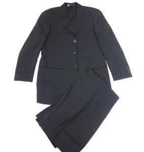 美品 ARMANI アルマーニ メンズ セットアップ パンツスーツ 黒 サイズ48 クリーニング済 古着 【中古】t-003 y17-4410 00