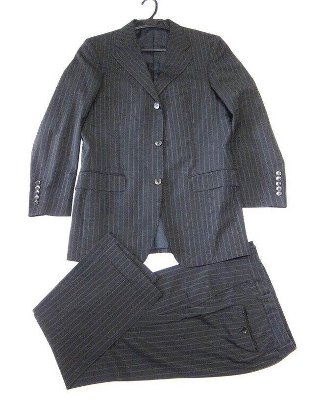 GUCCI グッチ メンズ セットアップ パンツスーツ 黒 サイズ48 古着 美品 クリーニング済【中古】t-003:レイライン