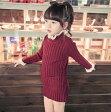 キッズ 女の子ニットインナー ニットセーター 5色 90〜125サイズ 新品未使用品 t-030△△