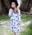 キッズ ファッションワンピース キッズ欧米風長袖ワンピース 100〜140サイズ 新品未使用品 t-030△△w6101