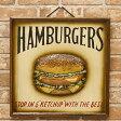 【 ANTIQUE BOARD 】アンティークボード HUMMBURGERハンバーガー 新品未使用品 t-003△△205ms1361