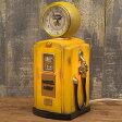 時計付ライト ナイトランプ【Night Clock Lamp】ROUTE66 GUS PUMP Yellow 新品未使用品 t-003△△