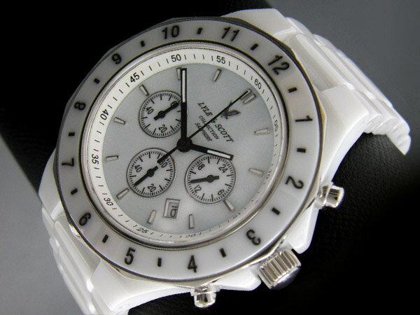 LYLE&SCOTT/ライル&スコットメンズ腕時計フルセラミッククロノグラフLH-88082色 ベルト調整器付 ベルト時計プ