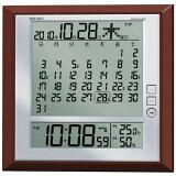 【送料無料】【SEIKO/セイコー SQ421B】マンスリーカレンダー機能搭載温湿度計付電波クロック《壁掛け時計 壁掛時計・置時計》 ■送料無料※北海道・九州・沖縄・離島は別途送料(1080円〜2160円)