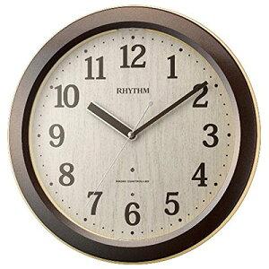 【送料無料】リズム時計 RHYTHM 電波掛け時計 ピュアライトM33 夜間自動点灯 茶色 4MYA33SR06 ■送料無料※北海道・九州・沖縄・離島は別途送料(1080円〜2160円)