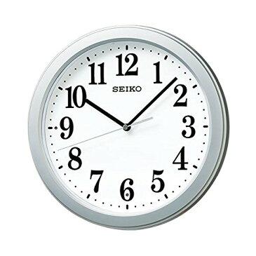 【送料無料】SEIKO CLOCK (セイコークロック) 掛け時計 電波 アナログ コンパクトサイズ 銀色メタリック KX379S ■送料無料※北海道・九州・沖縄・離島は別途送料(1080円〜2160円)