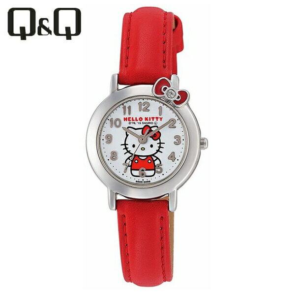 全国/代引き不可  シチズンキューアンドキュー CITIZENQ&Q腕時計ハローキティアナログ表示日常生活防水ホワイト×レッド