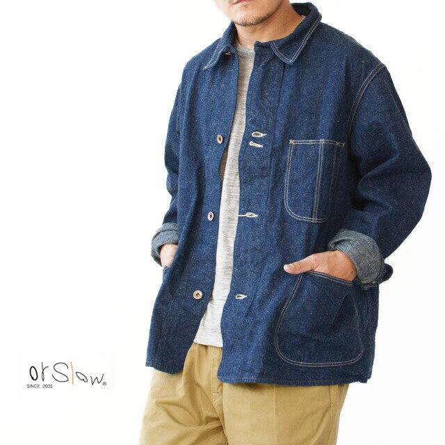 メンズファッション, コート・ジャケット orslow 40s COVER ALL 9oz ORIGINAL SELVEDGE DENIM 01-6150-81 MENS