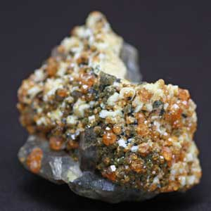 【一点物】ガーネット他2種鉱物共生クラスター131g【希少石】