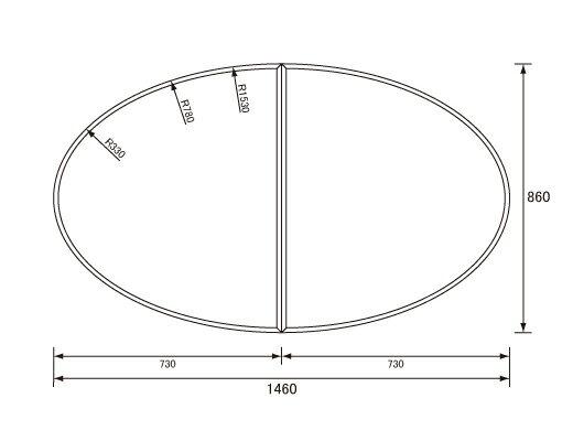 パナソニック Panasonic(松下電工 ナショナル) 風呂ふた(ふろふた フロフタ) 組みふた GC965C 860×1460mm (GC965の代替品)