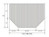 パナソニック Panasonic(松下電工 ナショナル) 風呂ふた(ふろふた フロフタ) 巻きふた RL91008C (RL91008の代替品) 910×1335mm (リブ数:40本)