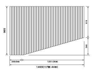 パナソニックPanasonic(松下電工ナショナル)風呂ふた(ふろふたフロフタ)巻きふたRLFK76MF1KKLC(RLFK76MF1KKLの代替品)965×1469mm(リブ数:44本)