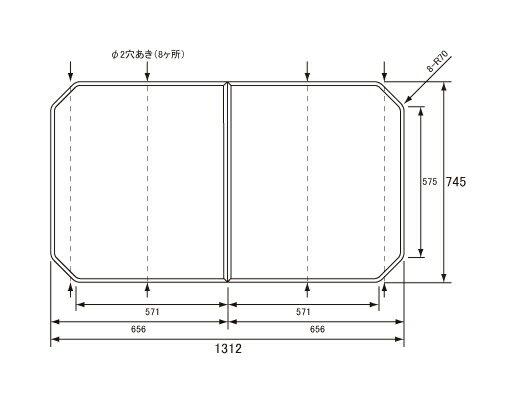 パナソニック Panasonic(松下電工 ナショナル) 風呂ふた(ふろふた フロフタ) 組みふた RSS78KN1SM 836×1267mm マイクロバブル浴室洗浄付き浴槽用