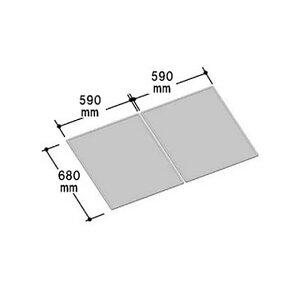 INAX風呂組フタ幅590×奥行680mm×2枚組:YFK-1270B(2)(風呂ふた、フロふた、風呂蓋)
