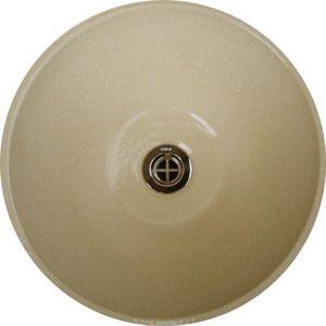 洗面ボウル信楽焼(和風陶器製)白スパタそり型(手洗い鉢/洗面鉢/洗面ボール)大サイズ40cm