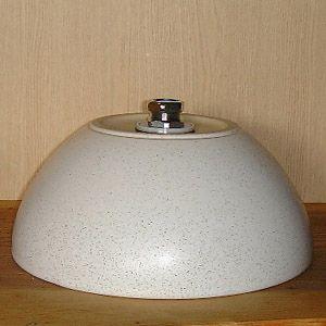 洗面ボウル信楽焼(和風陶器製)白斑点ボウル型(手洗い鉢/洗面鉢/洗面ボール)