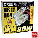 車検対応 簡単取付 CREE 爆光 80W ラフェスタ H16.12 〜 B30 ...