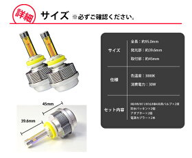 LED,イエロー,フォグランプ,H8/H9/H11/H16/HB4,3600ルーメン,3000k,ファンレスバルブ,LEDフォグランプ,LEDフォグ,イエロー,防水パッキン付き,省エネ