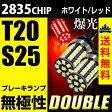 送料無料 T20 S25 LED ブレーキランプ テール ダブル 爆光 白/ホワイト 赤/レッド 2835チップ ピンチ部違い対応 無極性 2球セット【メール便配送商品】
