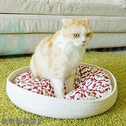 meyou THE NEST グラフィックレッド・クッション 犬猫用ベッド【ご注文後のキャンセル・返品・交換不可】【代金引換不可・コンビニ後払い不可】