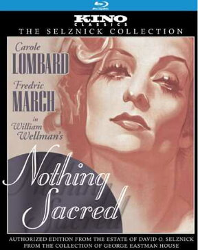 新品北米版Blu-ray!【無責任時代】Nothing Sacred: Kino Classics Edition [Blu-ray] (1937)!