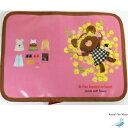 くまのがっこう 母子手帳ケース S マルチケース 花飾り ピンク 保険証・診察券入れ グッズ くまがく