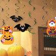 ハロウィン天井から吊るすデコレーション装飾飾りパーティースパイラルペーパーデコレーション