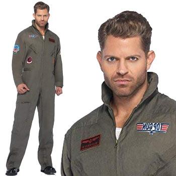 トップガン コスプレ 大きいサイズ コスチューム 仮装 衣装 海軍 空軍 ツナギ トムクルーズ TOP GUN