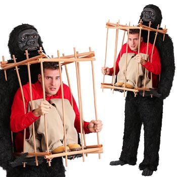 ゴリラ 動物 おもしろ 仮装 コスチューム コスプレ お笑い 爆笑 ハロウィン GORILLA