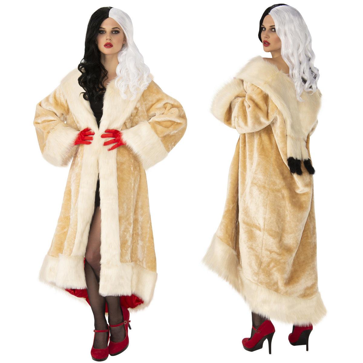クルエラ コート 衣装 コスプレ コスチューム 101匹わんちゃん コスプレ 服 ハロウィン Cruella de Vil画像