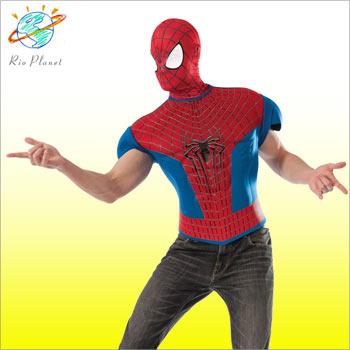 スパイダーマン コスチューム マッスルTシャツ マスク セット スパイダーマン コスチューム マッスルTシャツ マスク セット