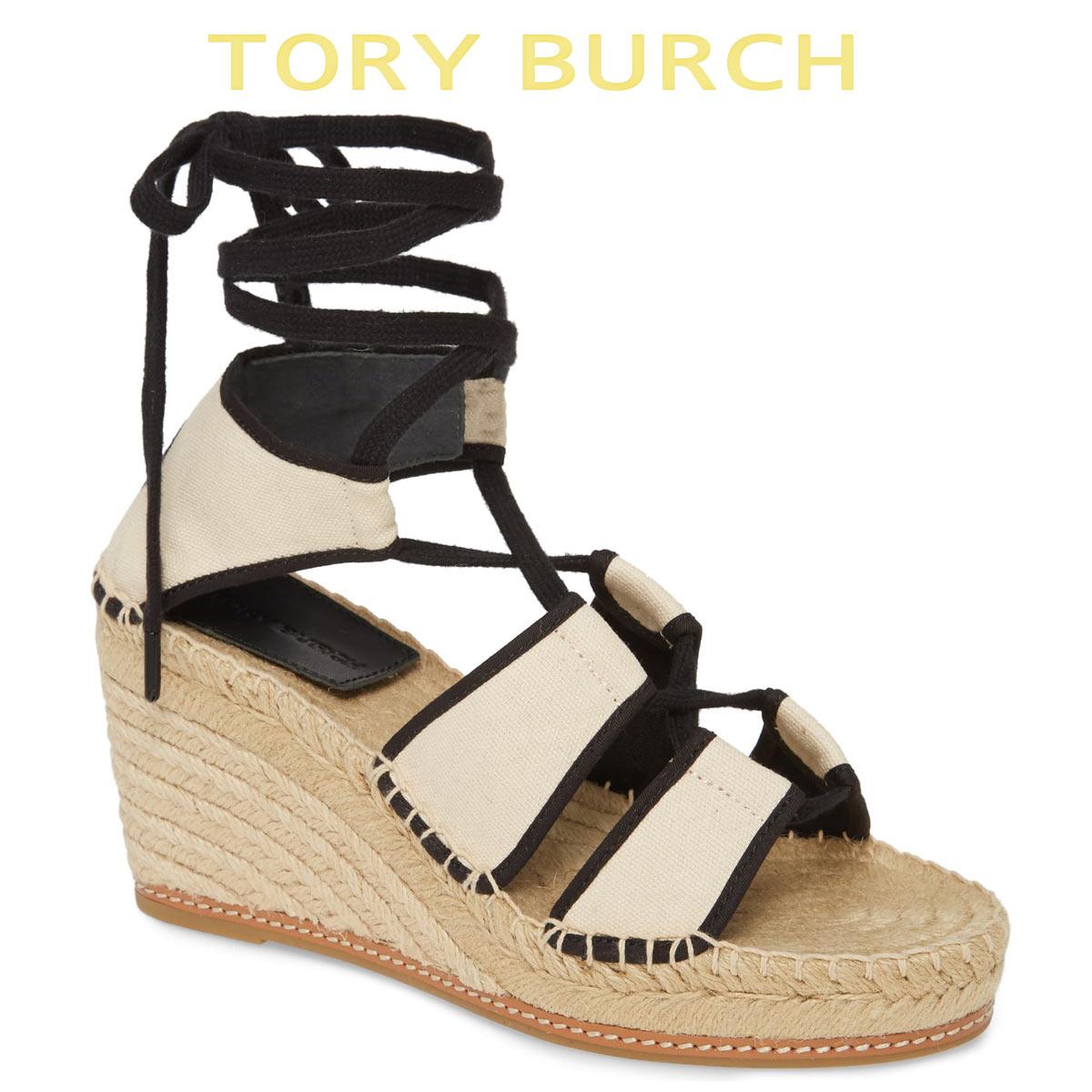 トリーバーチ サンダル エスパドリーユ レディース 厚底 ヒール 歩きやすい ブランド 大きいサイズ Tory Burch