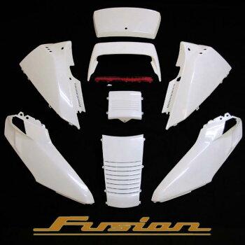 フュージョン MF02 外装 ホワイト 塗装済 アッパーカウル SE仕様 パーツ