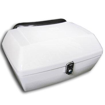 【あす楽対応】 汎用 リヤボックス ホワイト 塗装済み フュージョン フォルツァ PCX マジェスティ グランドマジェスティ マジェスティ125 マグザム シグナス スカイウェイブ アドレス 等に 大容量 リアボックス カスタム パーツ