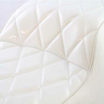 フュージョンMF02ダイヤカットホワイト白エナメルカスタムシート外装パーツホンダFUSION