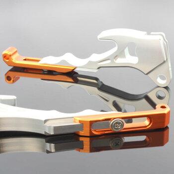 ヤマハシグナスX/SRSE12JSE44Jアルミ削り出しビレットブレーキレバーシルバー×オレンジ