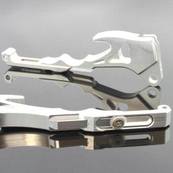 ヤマハシグナスX/SRSE12JSE44Jアルミ削り出しビレットブレーキレバーシルバー×シルバー