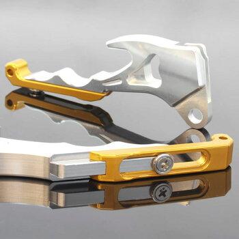シグナスX/SRSE12JSE44Jアルミ削り出しビレットブレーキレバーシルバー×ゴールド