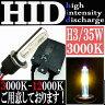 【あす楽対応】 35W HID H3 【3000k】 極薄型 防水 スリム バラスト パーツ