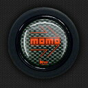 モモ ホーンボタン HB-07 MOMO CARBON RED